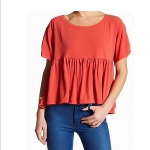 We The Free Womens Large Odyssey Peplum Knit Tee
